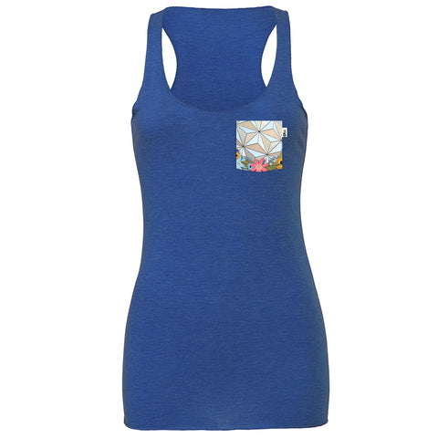 Flower & Garden SSE Racerback Tank, Heather True Royal