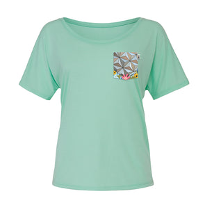Flower & Garden Slouchy Scoop Tee, Mint