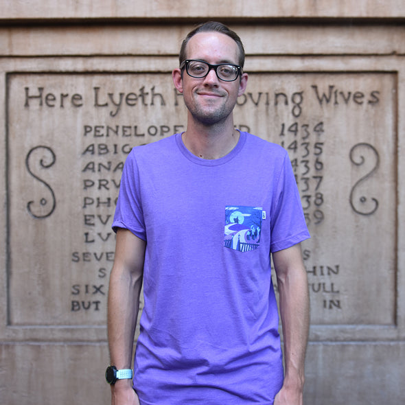 Happy Haunts Crew Tee, Heather Purple