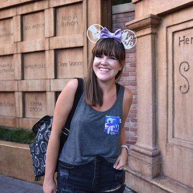 Happy Haunts Crop Tank, Heather Dark Grey