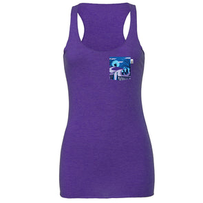 Happy Haunts Racerback Tank, Heather Purple