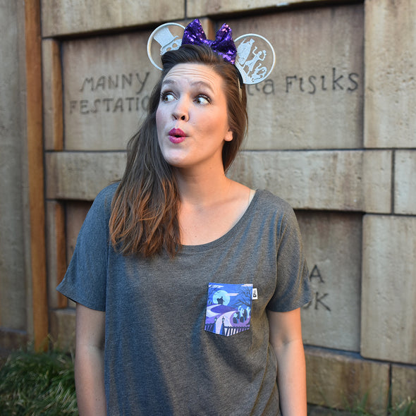 Happy Haunts Slouchy Scoop, Heather Dark Grey