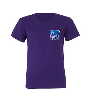 Happy Haunts Youth Tee, Team Purple