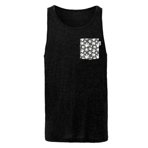High Four Unisex Tank, Heather Black
