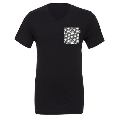 High Four V-Neck Tee, Black