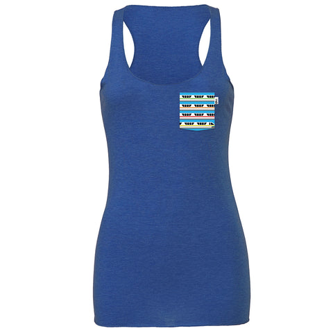 Monorail Racerback Tank, Heather True Royal