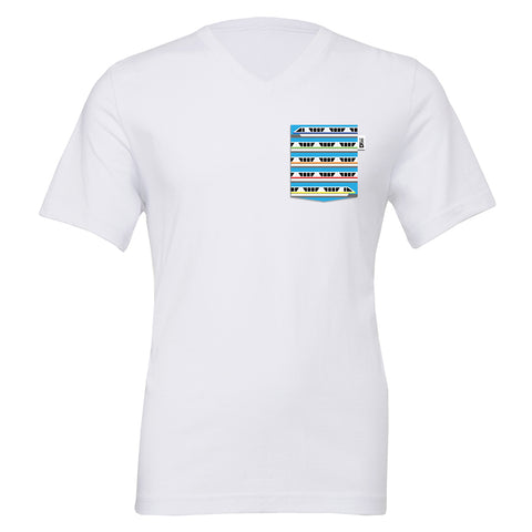 Monorail V-Neck Tee, White
