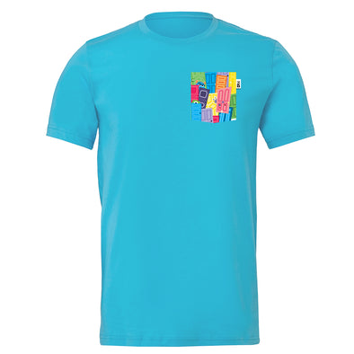 Monsters Crew Tee, Turquoise