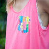 Monsters Crop Tank, Hot Pink