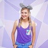 Monsters Racerback Tank, Heather Purple