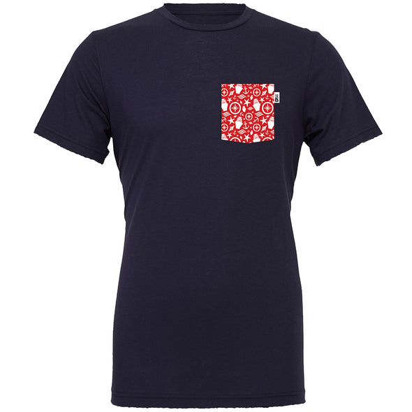 Nautical Crew Tee, Navy