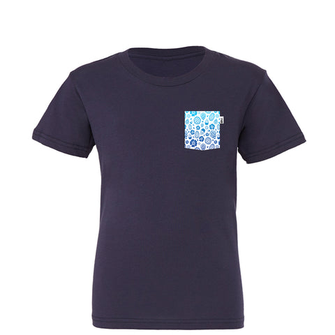 Polynesian Youth Tee, Navy