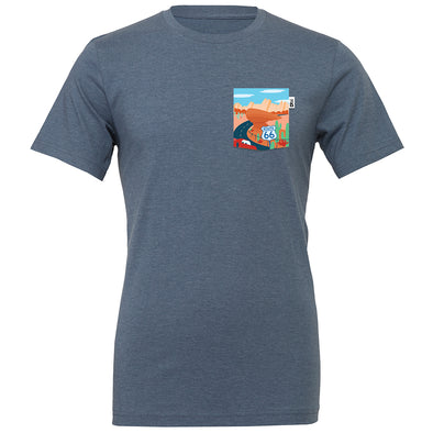 Route 66 Crew Tee, Heather Slate