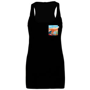 Route 66 Racerback Tank, Heather Black