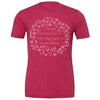 Somewhere Crew Tee, Heather Raspberry