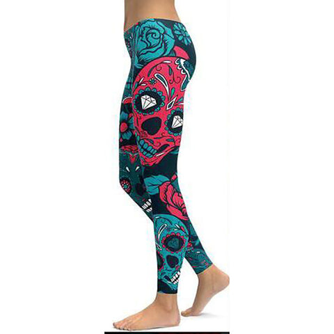 Skull Art Print Leggings