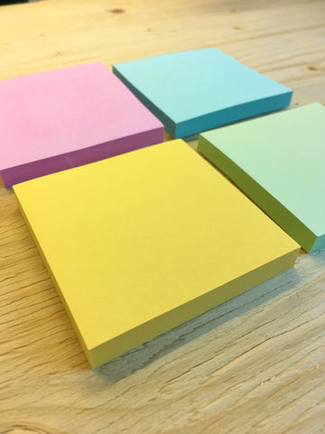 Coloured Stickies with Square Adhesive -12 Pack