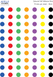 Coloured dots - 7 colours - 700 dots
