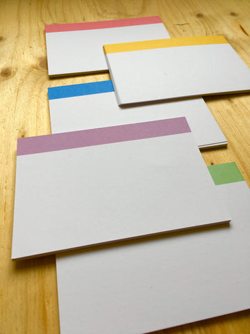Pro Index Cards - Striped (3/5 colours pack)