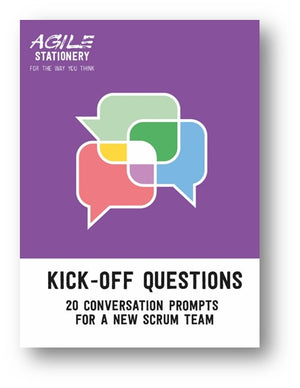 Kick-off question cards for a new scrum team