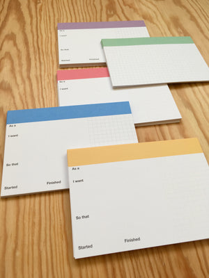 Pro Index Cards for User Stories (5 colours, A6,  250 gsm)