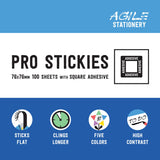 Stick Flat Pro Stickies with Square Adhesive