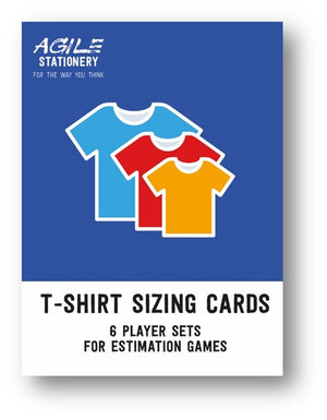 T-Shirt sizing cards - 6 player deck