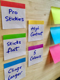 Pro Stickies with Square Adhesive- 3/5 colours