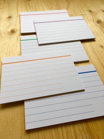 Pro Index Cards - Ruled (3/5 colours pack)
