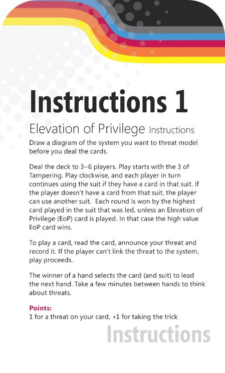 Elevation of Privilege (EoP) Threat Modeling Cards