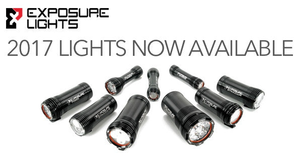 Don't be left in the dark!  Exposure Lights 2017 Range now in stock