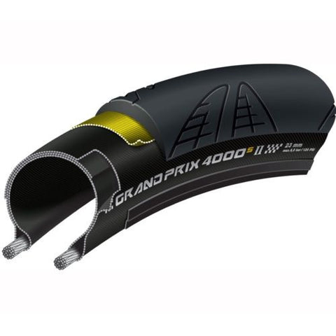 CONTINENTAL GP 4000s II Road Bicycle Tyre with Black Chili Compound 700 x 28c