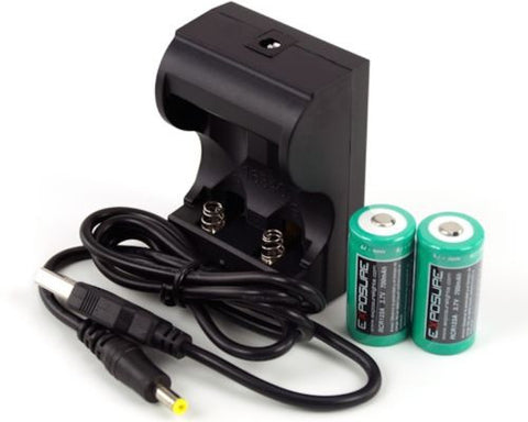 EXPOSURE LIGHTS Charger & Rechargeable RCR123A Li-Ion Batteries for Spark, Flash, Flare