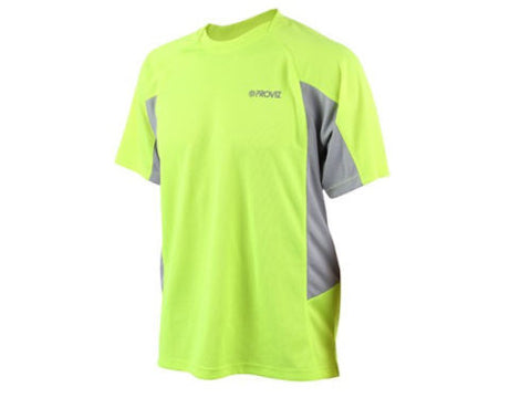 PROVIZ Men's Active T-Shirt. Hi-Viz Moisture-Wicking Tee