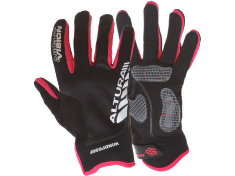 ALTURA Women's Night Vision Windproof Gloves: Black/Raspberry