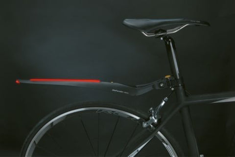 TOPEAK Defender iGlow Rear Mudguard for Road Bikes with LED Light Technology