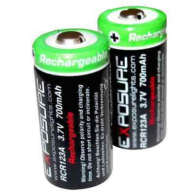 EXPOSURE LIGHTS RCR123A Rechargeable Lithium-ion Batteries (pair)