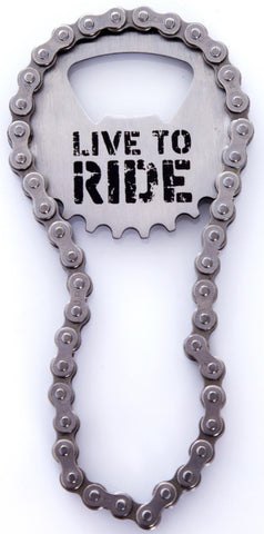 Live to Ride Bottle Opener: Cyclists, MTB, Mountain Biking, Biker, Motorcyclist