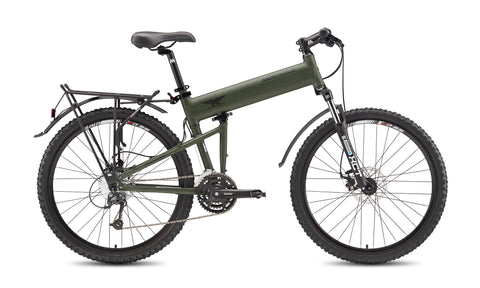 MONTAGUE Paratrooper Folding Mountain Bike with RackStand (+FREE! Montague Bike Bag)