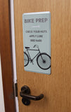 Bike Prep Tin Sign Gift: Road Cyclists, Mountain Bikers, Touring, Downhill, Etc.