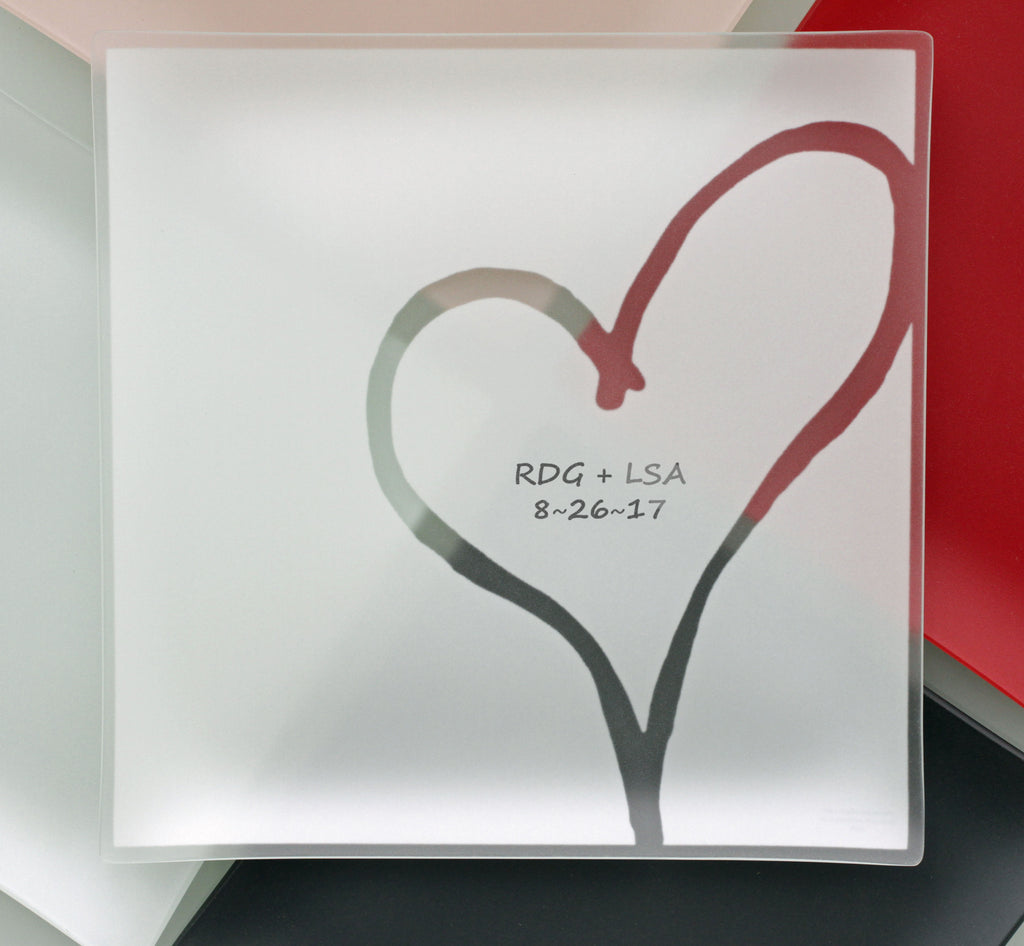 "Engraved 13"" Heart Plates With Purpose™ for Habitat"