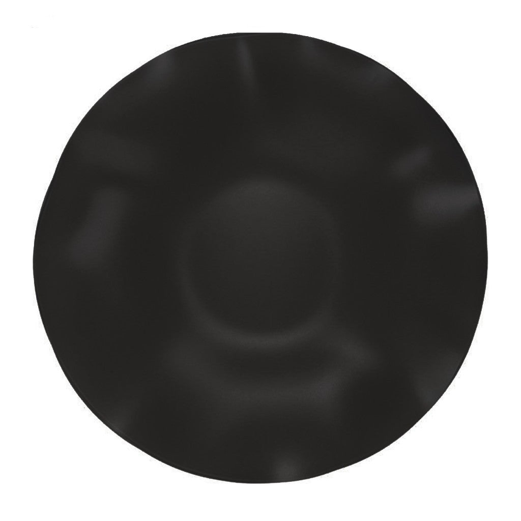 "SeaGlass 15"" Black Wave Bowl"