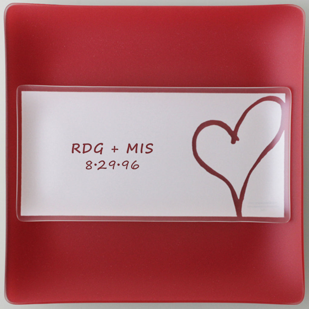 "Engraved 5x10"" Heart Plates With Purpose™"