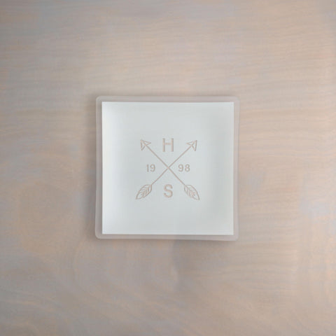 "Engraved 7"" Square Pearl Plate Architect"