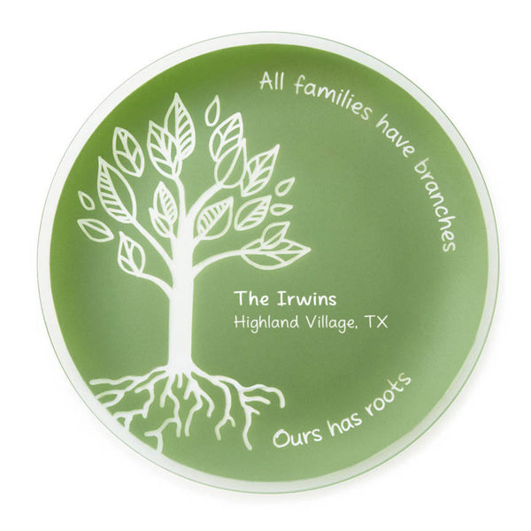 "Engraved 13"" Family Roots Platter"
