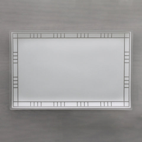 "11"" x 17"" Pearl Bordered Architect Platter"