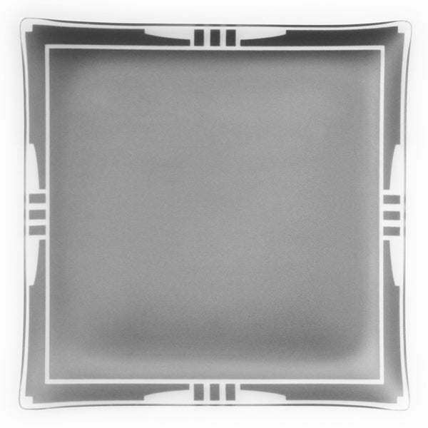 "14"" Square Graphite Bordered Architect Platter"