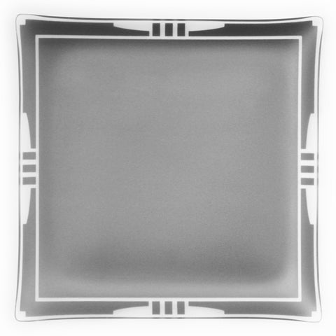 "14"" Square Graphite Bordered Platter Architect"