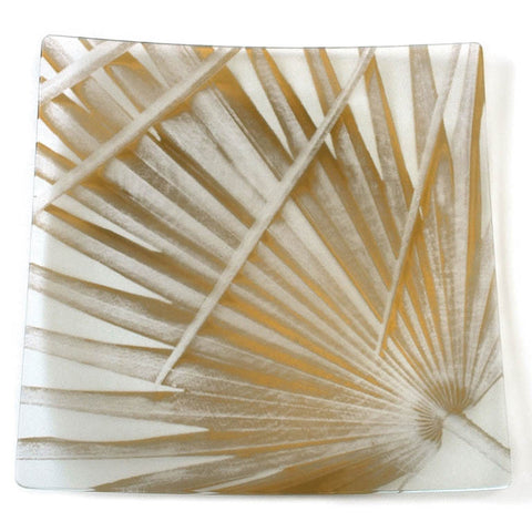 "Tropical Palm 14"" Gold Plate"