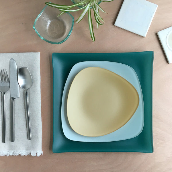 Pond SeaGlass 3 Piece Placesetting